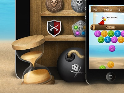 Motleys web page iphone ipad game illustrator sand clock