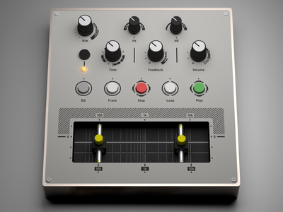 Custom MIDI Controller (Copper) render midi interface djing controller knobs buttons audio copper ableton 3d