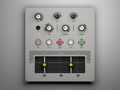 Custom MIDI Controller (Ortho) render controller midi interface knobs buttons audio ableton 3d