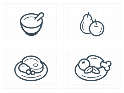 Meal Icons meal food app food icons design iconography icon set icons iconset