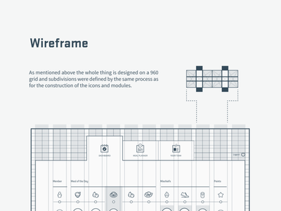 Meal app - Wireframe (Front) dynamic symmetry ratios ratio guidelines guideline wireframing wireframe website design web design webdesign interaction design interface gui