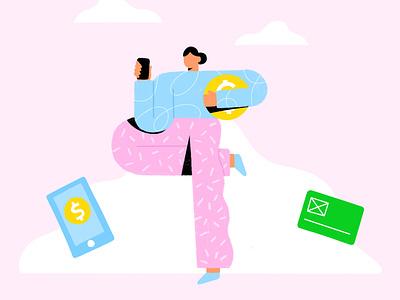 Mobile payments procreate web illustration web illustrations webdesign ui illustration mobile payment mobile payments payment online payment mobile app uxdesign uidesign uiux ui illustraion
