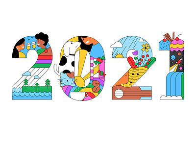 New year 2021 typography logo typography design typogaphy typography art happy new year cat illustration dog illustration vector illustration vector art illustration art illustrator ui ui illustration character design character illustration web illustration 2021 new year character illustration