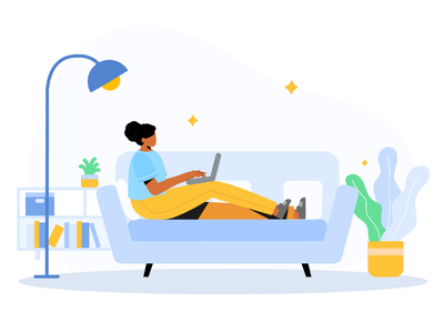 Work from home website illustration ipad illustration freelancer web illustration uxui ux uiux ui illustration ui onboarding illustration landing page illustration ipad illustration startup work work from home wfh app illustration