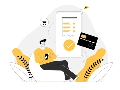 Payment successful online payment payment success payment successful website illustration web illustration uxui ux uiux ui illustration ui startup onboarding illustration payment gateway payment landing page illustration illustration app illustration