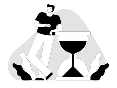 Save time website illustration web illustration uxui ux uiux ui illustration ui startup onboarding illustration time save time landing page illustration illustration freelancer app illustration