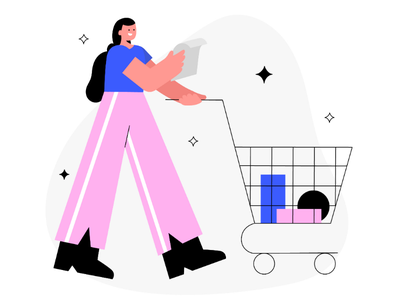 Shopping retail offline shopping shopping cart cart website illustration web illustration uxui ux uiux ui illustration ui shopping onboarding illustration landing page illustration illustration freelancer app illustration