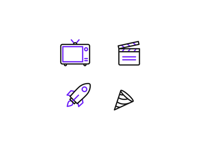 Introducing Unicorn Icons🦄 - Free Animated Lottie icons icon animation 2d icons line icons mobile icons app icons web icons movie clapper motion graphics launch rocket confetti micro interaction 2d animation bodymovin lottie ui animated icons animation icons icon
