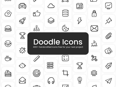 Freebie: Doodle icons design logo vector icons vector illustration doodle hand drawn hand drawn icons icons mobile icons web icons ux icon designer iconography ui icon design icon set icon pack icon sets icon