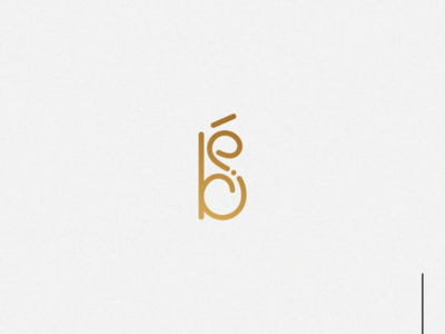 B&E gold logo design logo illustrator honey graphic design design company branding b