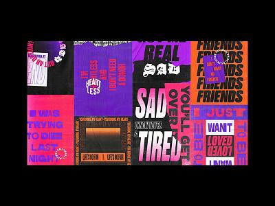 Thug Tears trap emo lil peep lil uzi vert typography poster