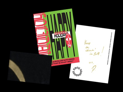 Christmas 2017 holiday greetings spraypaint graphic design typography postcard holidays xmas christmas