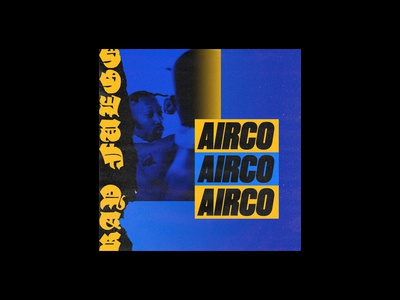 Airco punk typography album art graphic design music cover art single cover hiphop