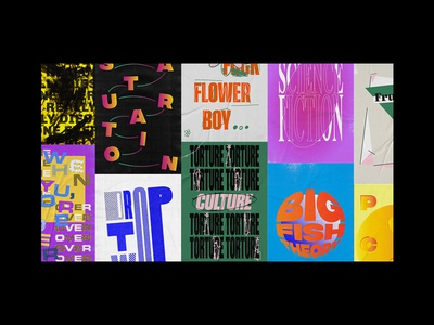 Year In Review 2017 sampha pharrell lil peep nerd gucci mane vince staples tyler the creator brockhampton art direction graphic design typography poster