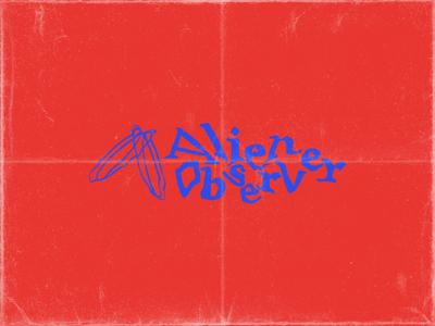 Alien Observer dj art grunge space icon logomark typography branding logo alien