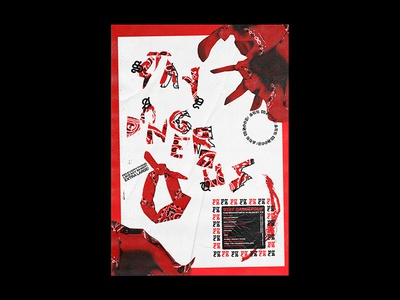Stay Dangerous rap hiphop stay dangerous yg poster design poster print scan texture lettering design graphic design music punk typography