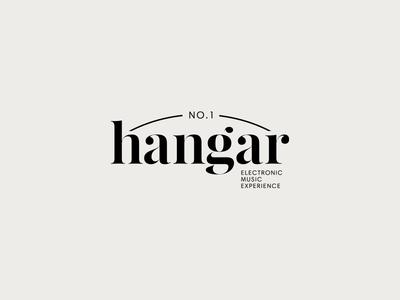Hangar identity logo desin techno lettering music design graphic design logo branding typography