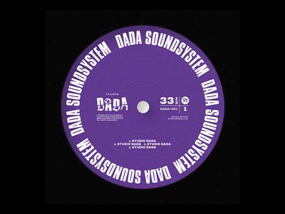 DADA SOUNDSYSTEM identity branding typography disco electro hiphop punk spotify playlist music cover art