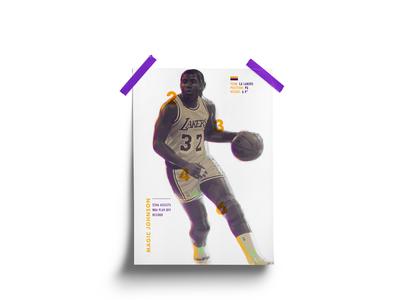 Magic Johnson Poster
