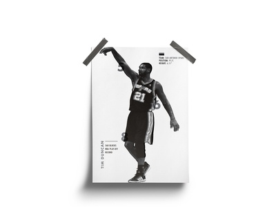 Tim Duncan Poster