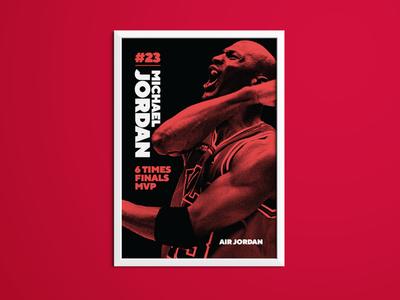 Michael Jordan Sporting Icon Poster