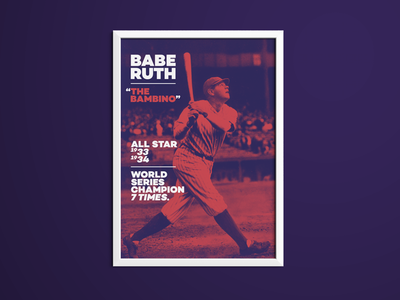 Babe Ruth Sporting Icon Poster