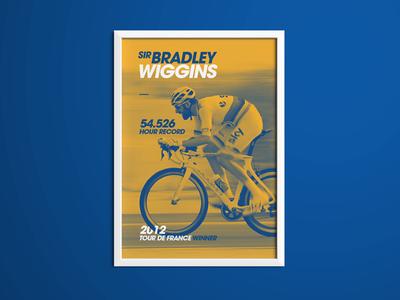 Bradley Wiggins Sporting Icon Poster