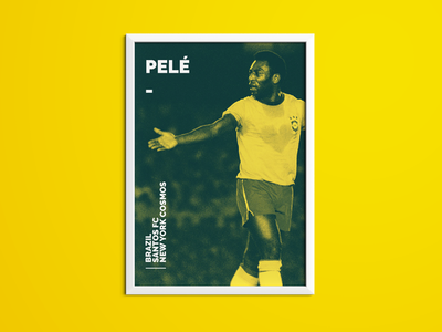 Pele Sporting Icon Poster