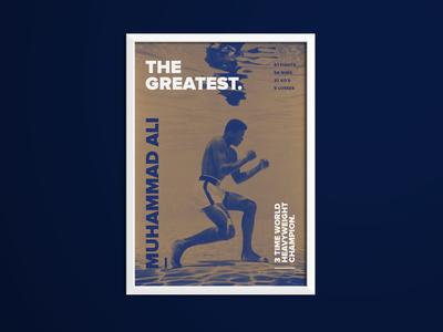 Muhammad Ali Sporting Icon Poster