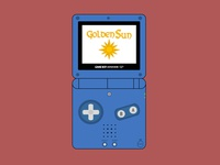 GBA SP - Golden Sun