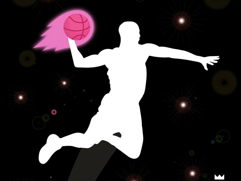 Fire Slam Dunk pink basketball fire ball lens flares camera flashes fire dribbble debut dribbble slamdunk slam dunk digital art artwork art graphicdesign vector illustration graphicart digitalart design 2d