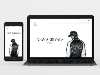 OVO Store Redesign web clothing store ecommerce