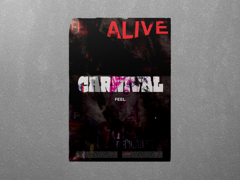 Carnival horror scary poster challenge poster a day poster illustrator graphic  design design adobe