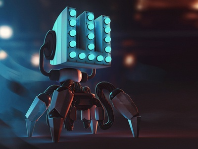 W-bot w type scifi concept art concept digital art illustration photoshop cinema 4d c4d