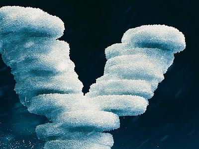 Icy Y type ice photoshop illustration digital art concept art concept cinema 4d c4d y