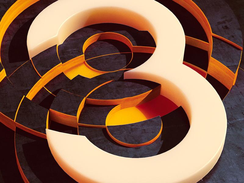 Intersection 3 3 type geometry concept art concept digital art illustration photoshop cinema 4d c4d