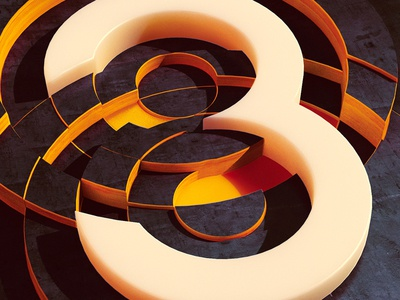 Intersection 3 3 type geometry concept art concept digital art illustration photoshop cinema 4d c4d