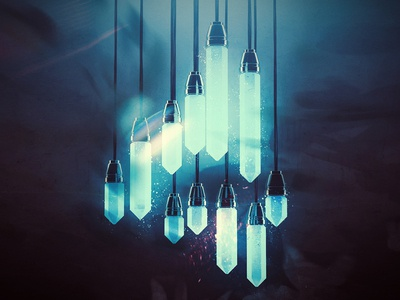 Shining 4 4 type crystal concept art concept digital art illustration photoshop cinema 4d c4d