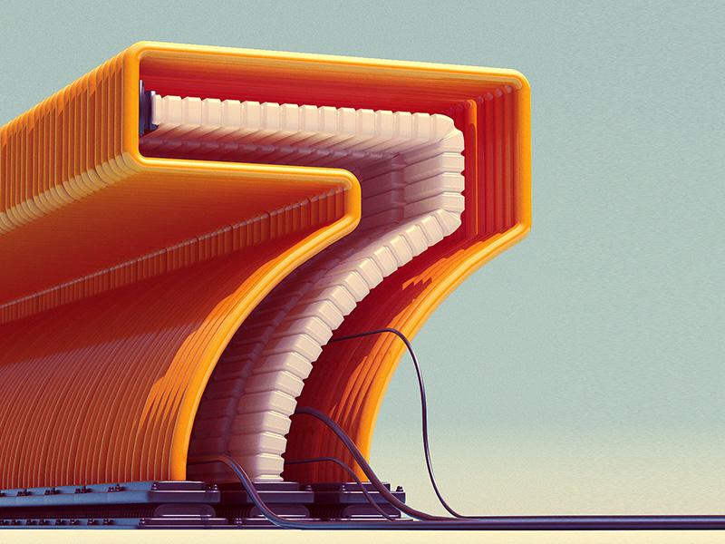 Circuit 7 type scifi photoshop illustration digital art concept art concept cinema 4d c4d 7