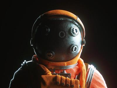 Astronaut #01 octane illustration scifi photoshop 3d concept art cinema 4d c4d astronaut
