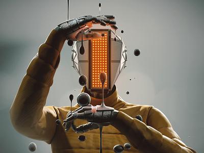 BBLS Session #01 illustration mech robot scifi octane render octane 3d concept art concept cinema 4d