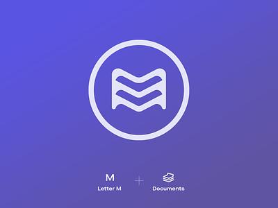 MyloDocs Logo Design clean saas web branding brand logotype logo