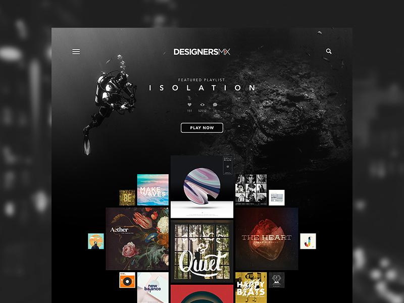 Designers MX  designersmx redesign fun sketch sketchapp dark music ui