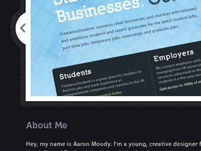 Portfolio v4 - featured work by Aaron Moody on Dribbble
