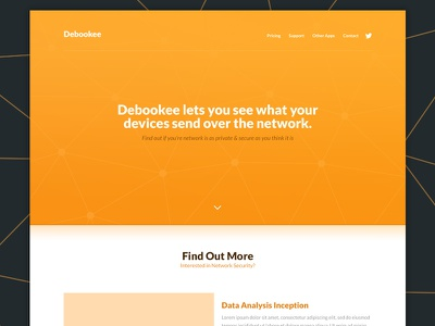 Network Analysis App responsive bootstrap simple bold clean landing page website tech app
