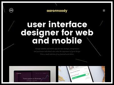 Portfolio 2016 personal designer minimal semplice simple dark design website portfolio