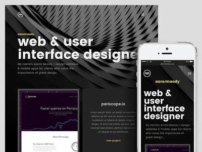 Portfolio 2016 Update personal designer minimal semplice simple dark design website portfolio