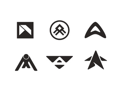 Logo Marks star m a icon bold health gym fitness sports mark brand logo