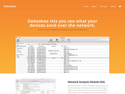 Landing Page interface ui clean network orange bold intro landingpage website homepage