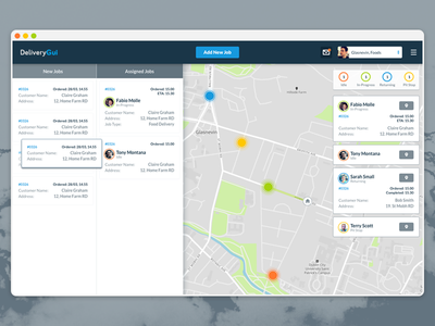 Delivery App delivery map track interface ui webapp website web app